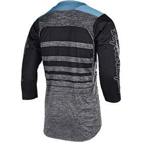 Troy Lee Designs Ruckus Maillot Manches 3/4 Homme, streamline/heather gray/black